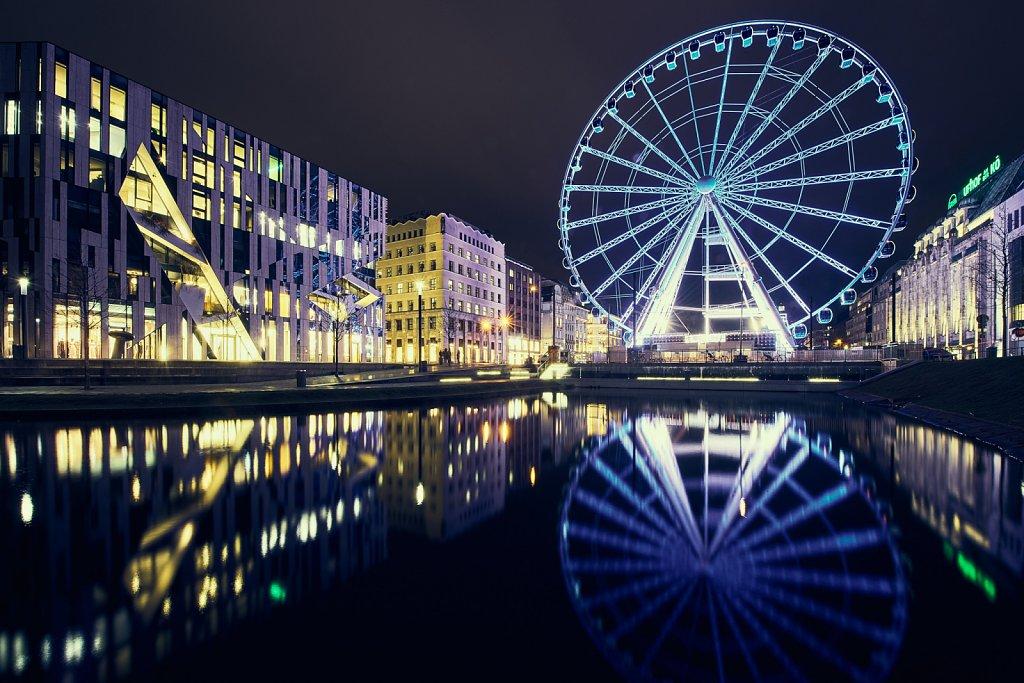 Düsseldorf Kö mit Riesenrad